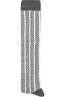 ALTO MILANO Long herringbone socks