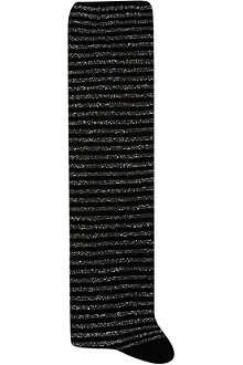 ALTO MILANO Long stripy glitter socks