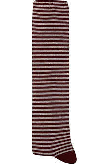 ALTO MILANO Long stripy glitter socks