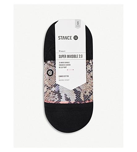 立场超级无形的2.0蟒蛇精梳棉袜 (黑色