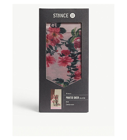sheer knitted STANCE Printed rider socks low Pink Printed STANCE qRFvFZw4