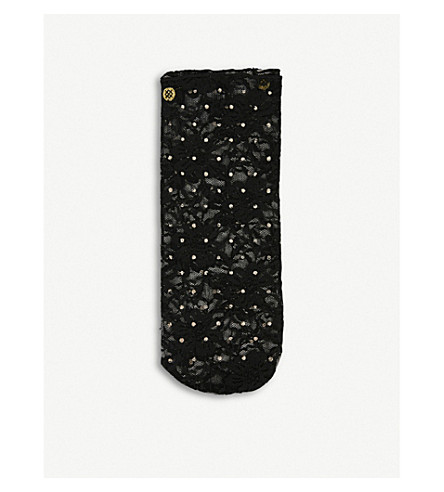 STANCE Lacey floral-lace ankle socks (Black