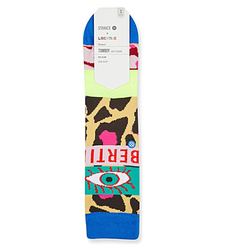 STANCE Stance x Libertine magic eye cotton socks (Multi