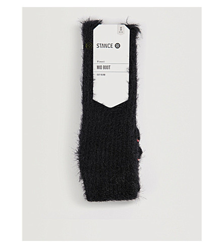 STANCE Mega fluffy socks (Black