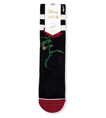 STANCE Beauty and the Beast Rose socks (Black