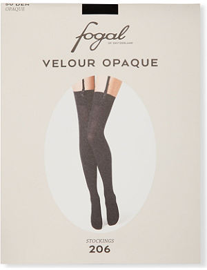 FOGAL Velour Opaque stockings