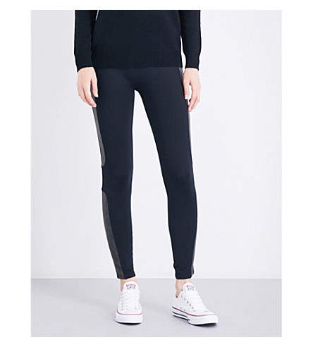 SPANX Panelled jersey leggings (Very+black