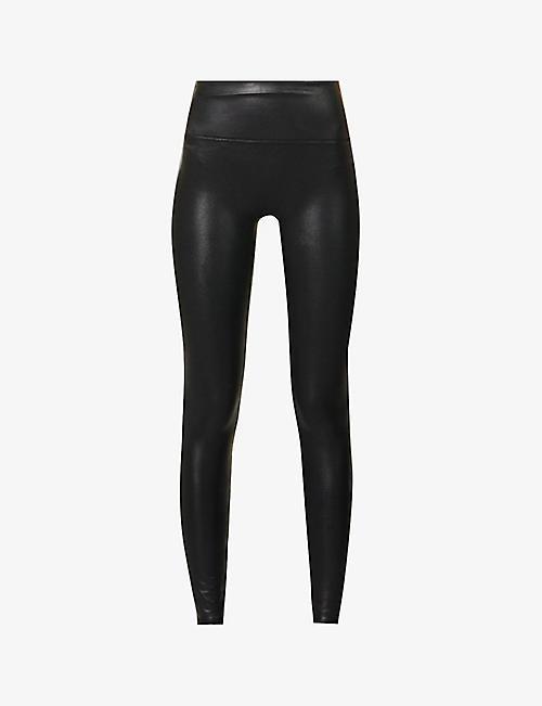 ca98e8052cb SPANX - High-rise faux-leather leggings
