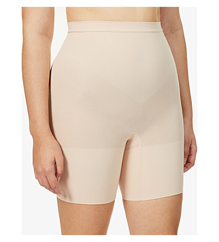 SPANX Power Shorts high-rise stretch-jersey shorts (Soft+nude