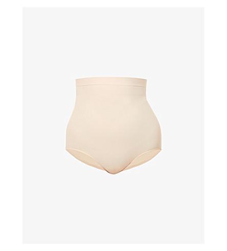 SPANX 大功率高腰平纹针织面料三角裤 (软 + 裸