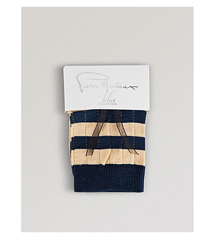 PIERRE MANTOUX Loulou striped socks (Nudo+blu
