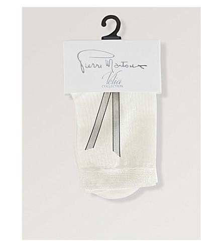 PIERRE MANTOUX Doremi ribbed socks (Bianco