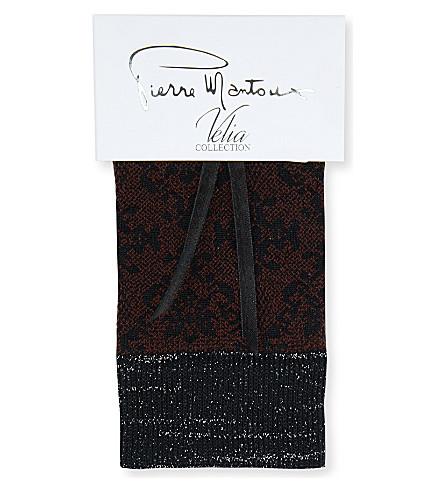 PIERRE MANTOUX Calliope lurex socks (Marsala