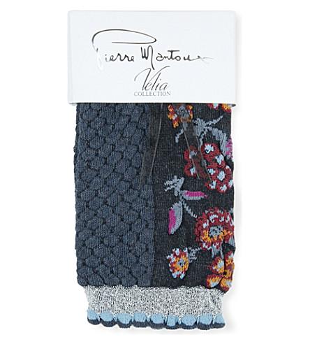 PIERRE MANTOUX Asia Flower socks (Denim