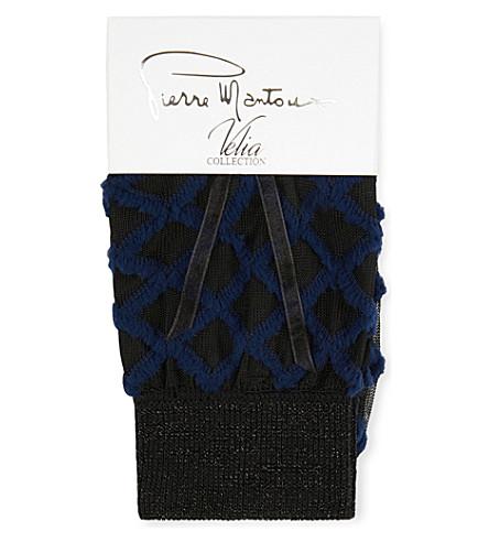 PIERRE MANTOUX Rea Diamond socks (Blu