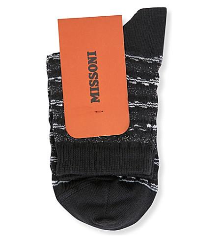 MISSONI Striped cotton-blend socks (Black+0001