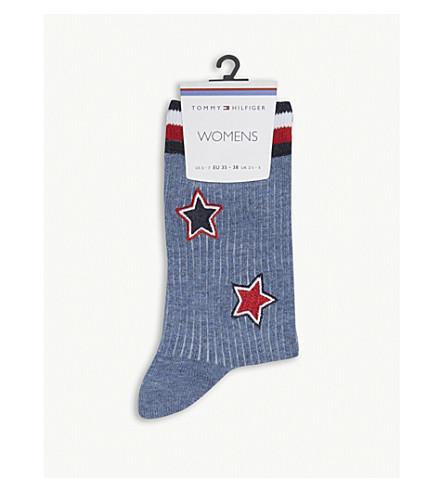 TOMMY HILFIGER Star patches cotton-blend socks (Jeans
