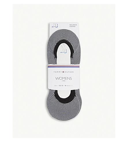 TOMMY HILFIGER Stripe print liner socks (Black