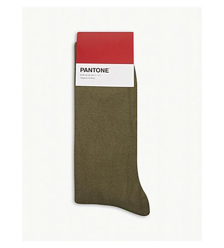 PANTONE Cotton-blend logo socks (Artichoke