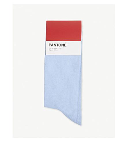PANTONE Cotton-blend logo socks (Jeans
