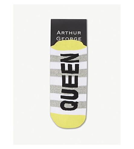 ARTHUR GEORGE Queen bee striped cotton socks (Multi
