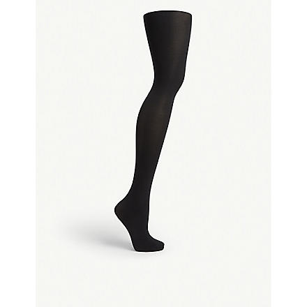 WOLFORD Velvet de Luxe opaque tights (Black