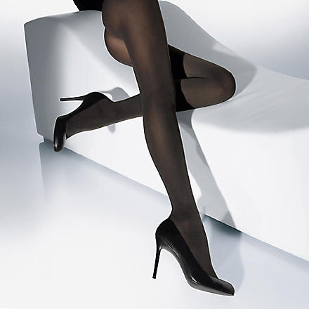 WOLFORD Cotton velvet tights (Admiral