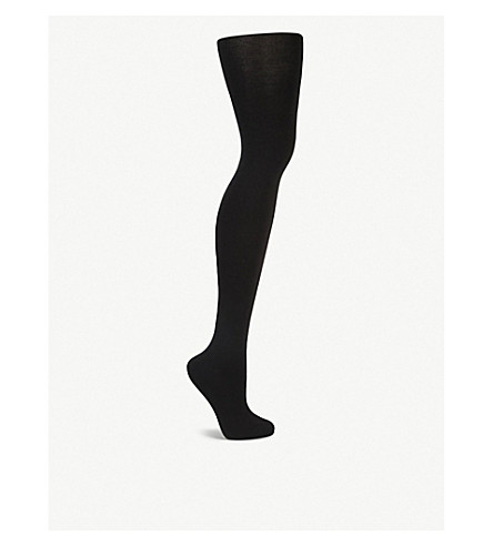 WOLFORD Cashmere silk tights (Black
