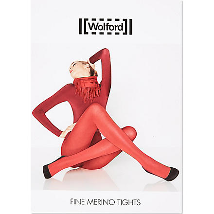 WOLFORD Fine Merino tights (Black