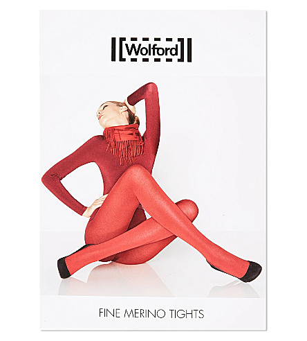 WOLFORD Fine Merino tights (Black