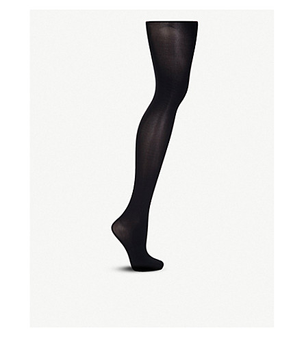 WOLFORD Pure 50 black tights (Black
