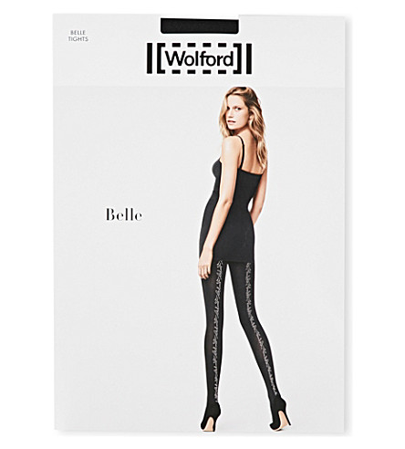 WOLFORD Wolford Belle tights (Black/silver