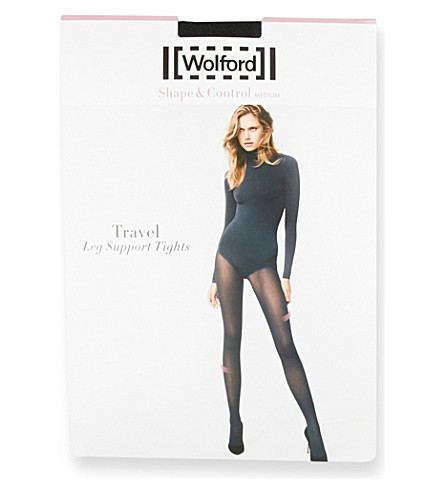 WOLFORD Travel Leg Support tights (Black
