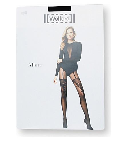 WOLFORD Allure tights (Black+black