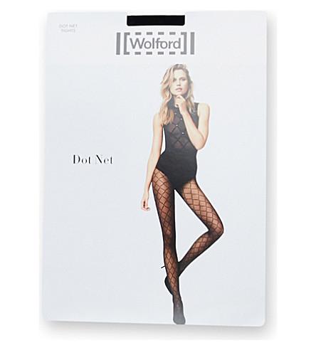 WOLFORD Dot Net Tights (Black