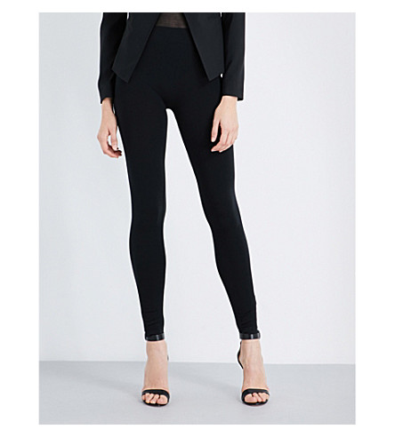WOLFORD High-rise skinny jersey leggings (Black