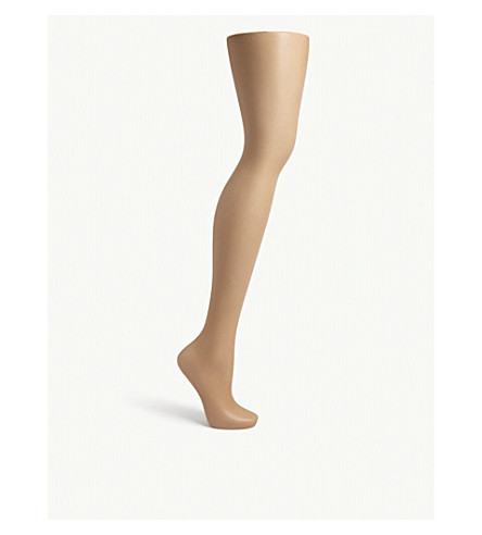 WOLFORD Luxe 9 toeless tights (Caramel
