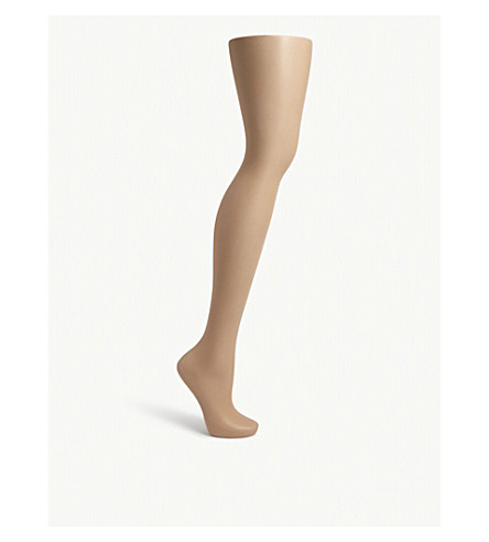 WOLFORD Luxe 9 toeless tights (Gobi