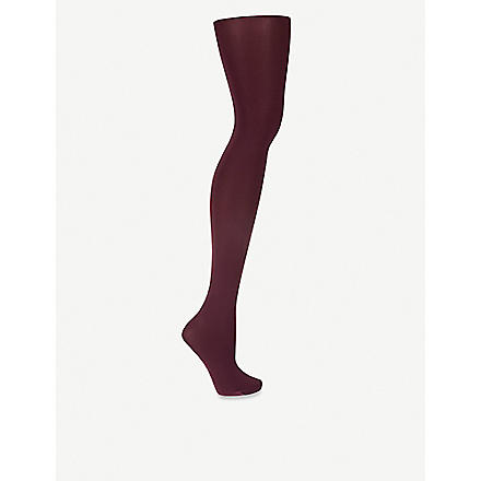 WOLFORD Velvet de luxe 66 tights (3045+plum+wine