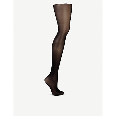 WOLFORD Matt transparent tights (Black