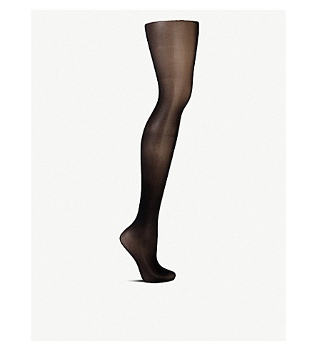 WOLFORD Matte transparent tights (Black