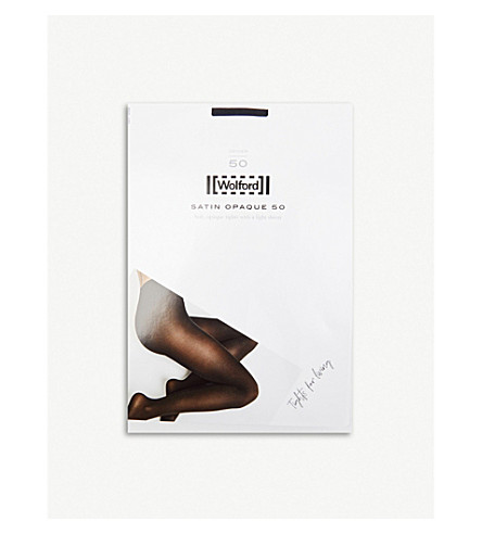 WOLFORD Satin opaque 50 denier tights (Black