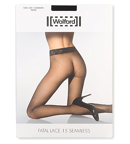 WOLFORD Fatal Lace tights (Black