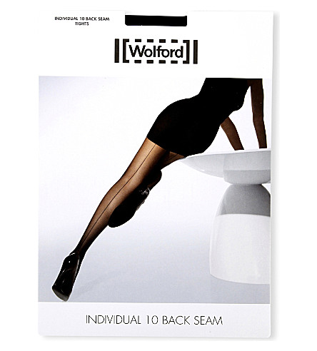 WOLFORD Individual 10 back-seam tights (Black