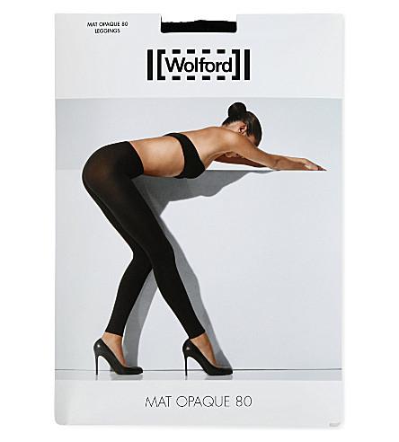 WOLFORD Matt opaque leggings (Black