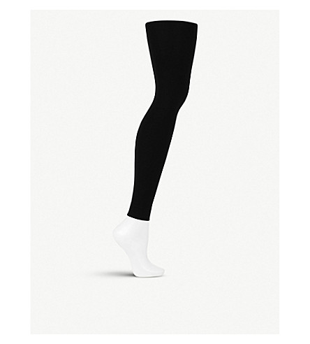 WOLFORD Velvet 100 leg support leggings (Black