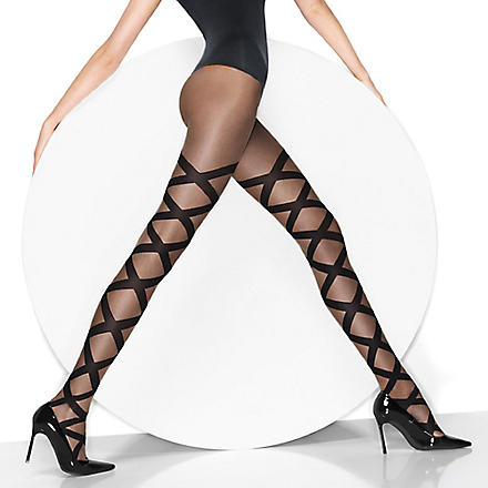 WOLFORD Nina tights (Black/black