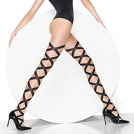 WOLFORD Nina tights (Sahara/black