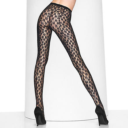 WOLFORD Florianne tights (Black/rose