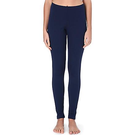 WOLFORD Skinny jersey leggings (Cobalt